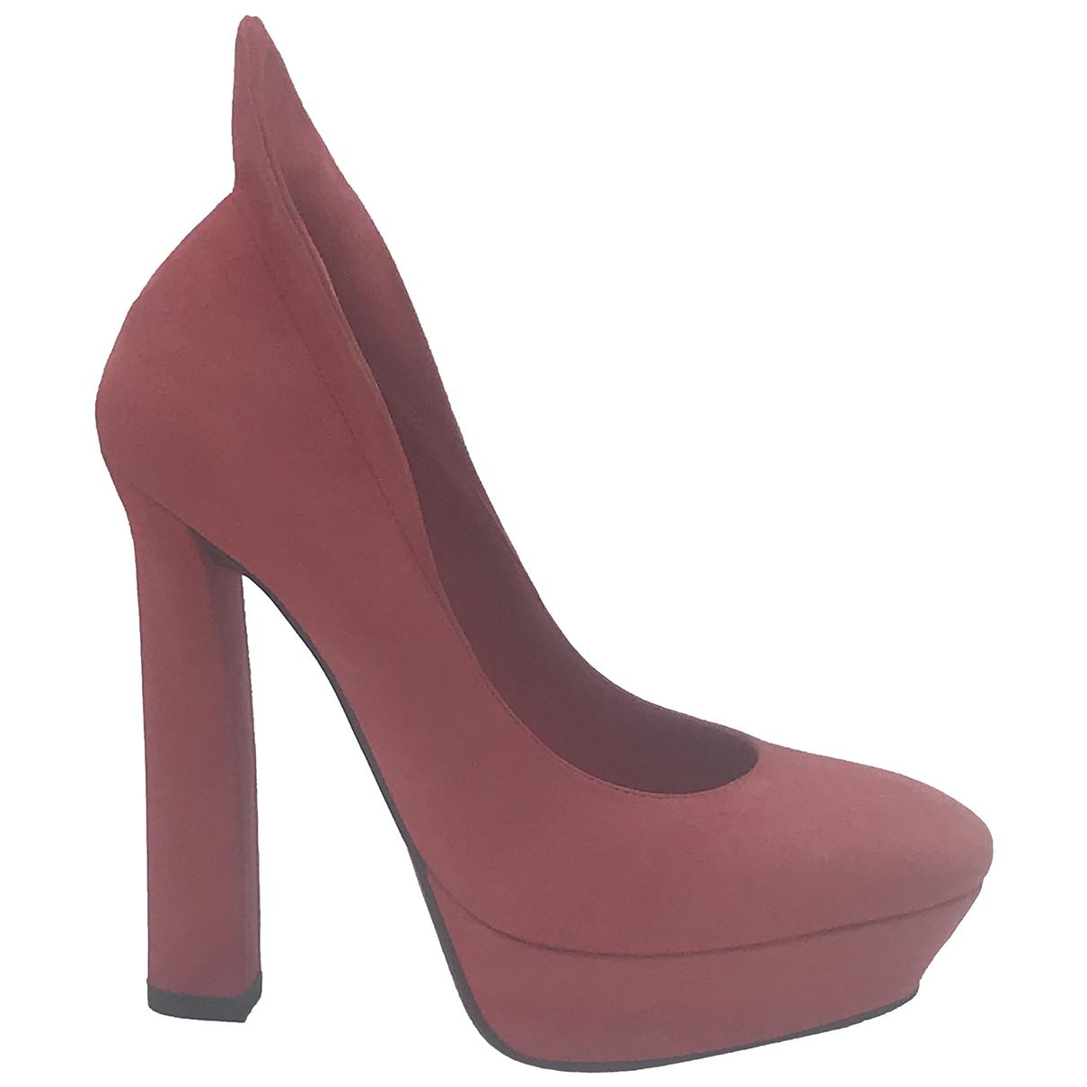 Bottega Veneta \N Red Suede Heels for Women 37 EU