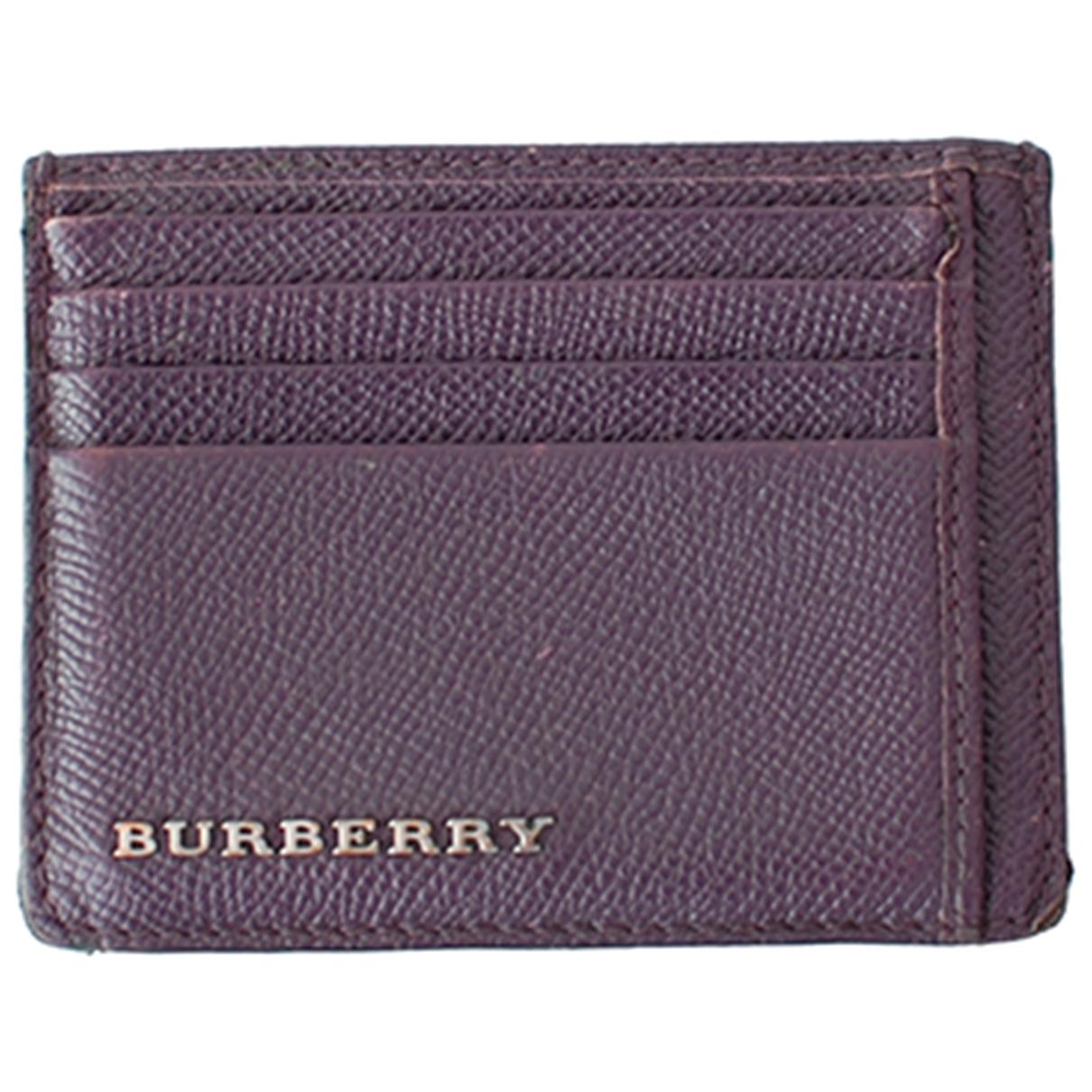 Burberry - Petite maroquinerie   pour femme en cuir - violet