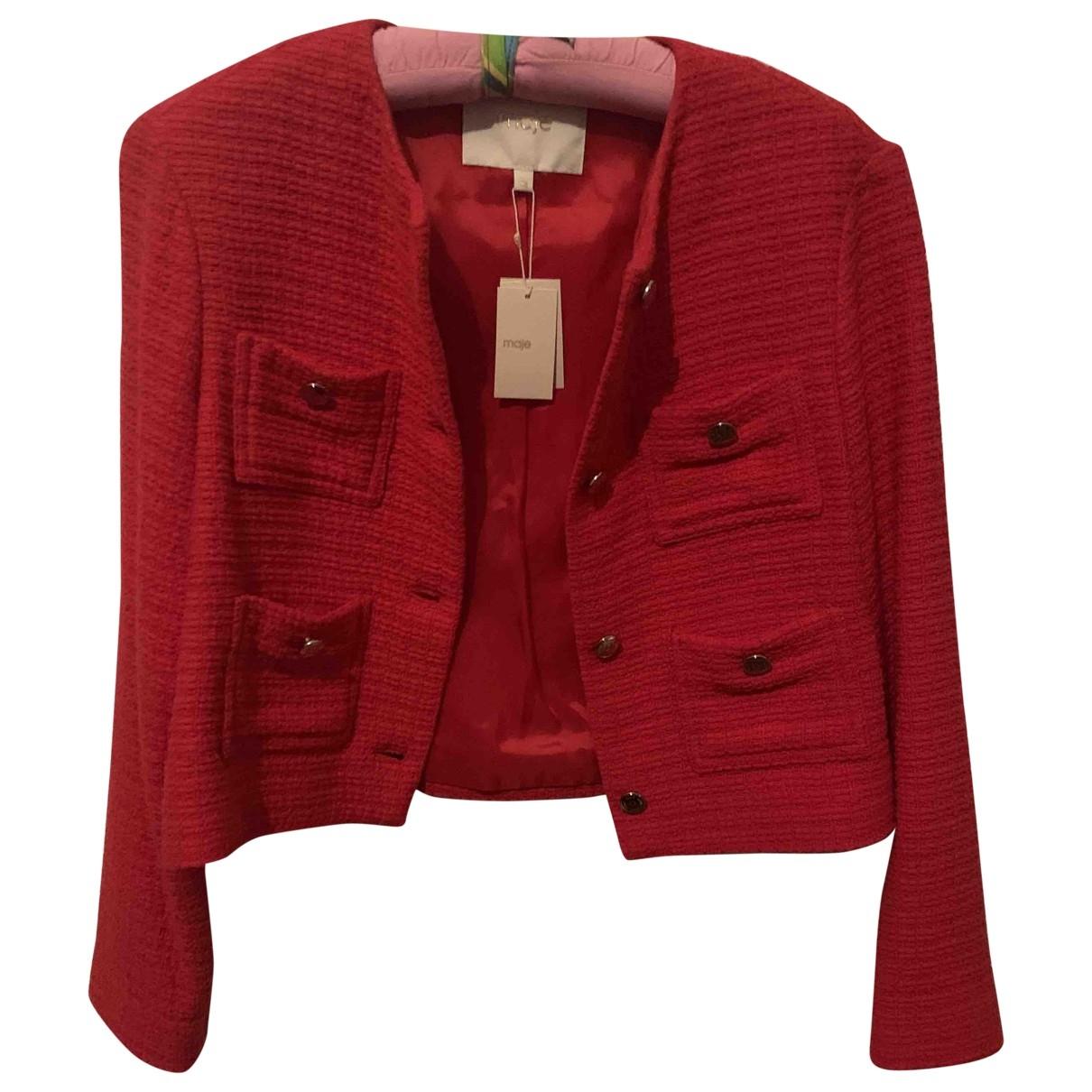 Maje Spring Summer 2019 Red jacket for Women 38 FR