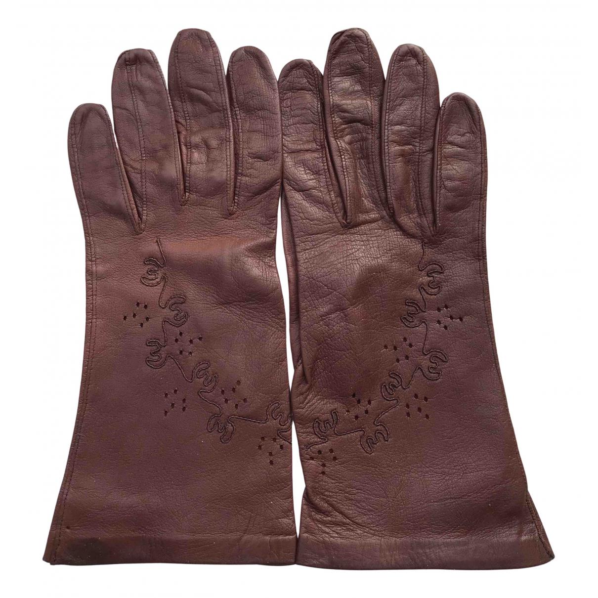 Non Signe / Unsigned \N Handschuhe in  Braun Leder