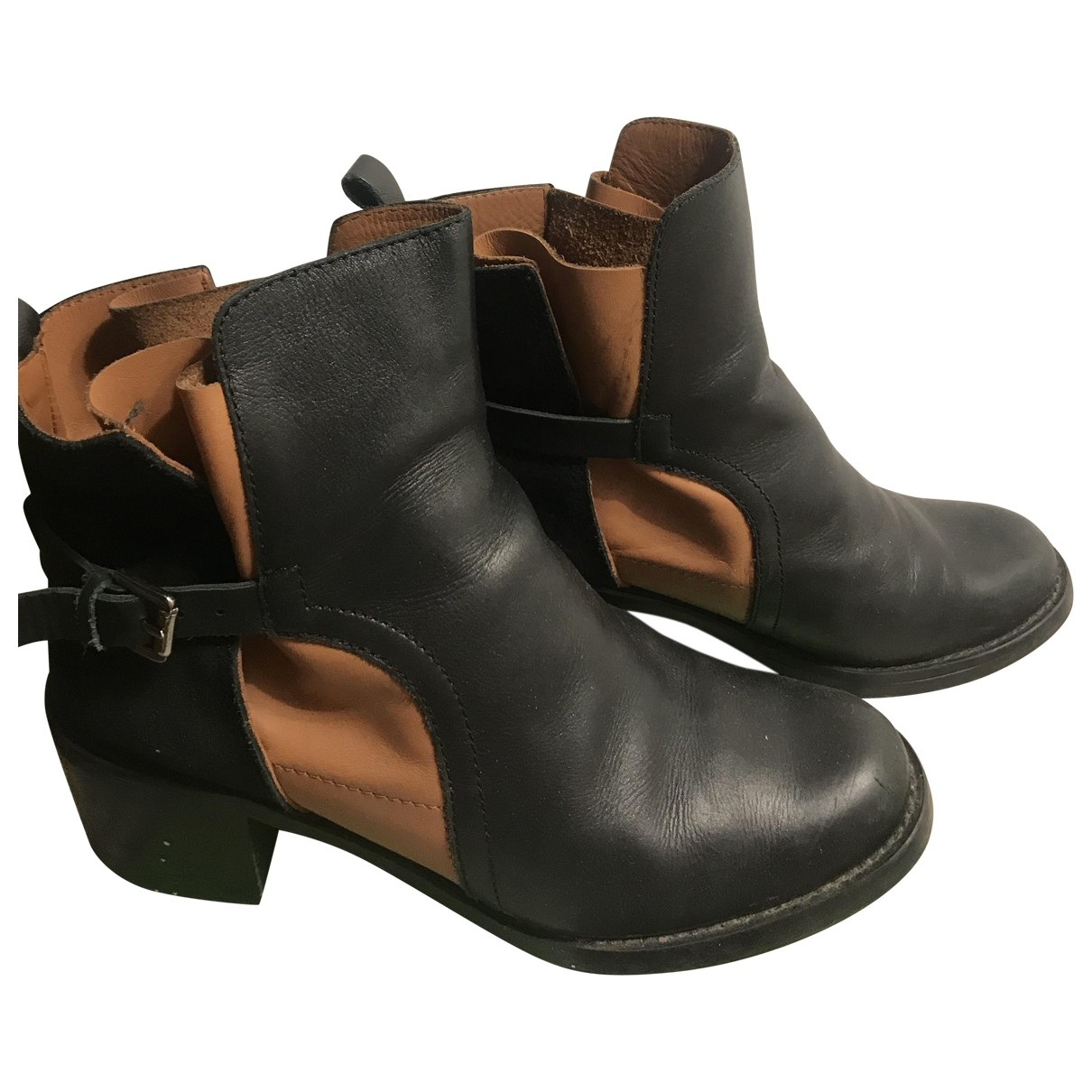 Hoss Intropia \N Black Leather Boots for Women 41 EU
