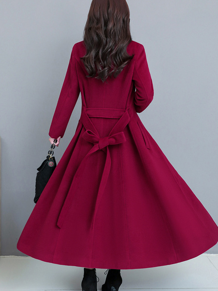 Milanoo Green Swing Coat Women Winter Coat Stand Collar Causal Coat
