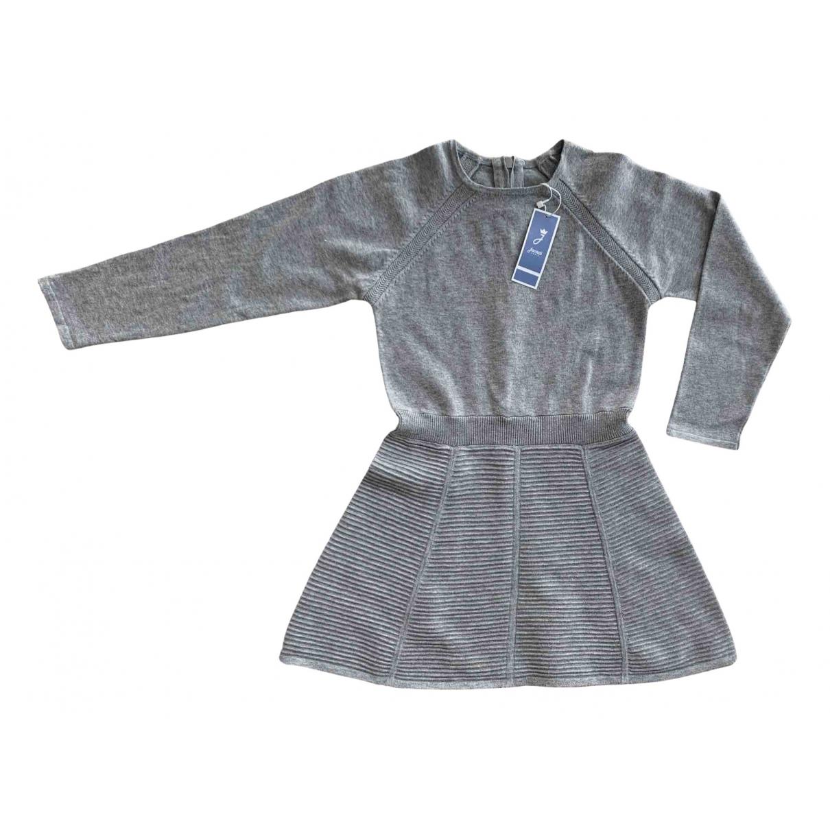 Jacadi \N Kleid in  Grau Baumwolle
