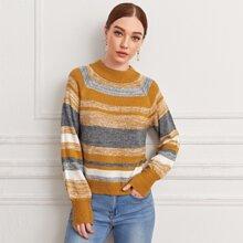 Pullover mit Raglanaermeln und Streifen
