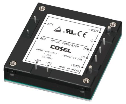 Cosel , 100.8W Embedded Switch Mode Power Supply SMPS, 24V dc, Encapsulated