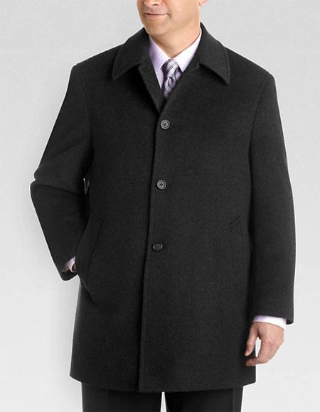 Men's Single Breasted Fully Lined Gray Wool Classic Fit Jacket