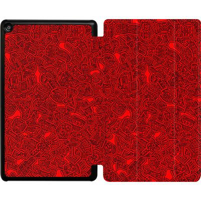 Amazon Fire HD 8 (2017) Tablet Smart Case - Red Black von Mattartiste