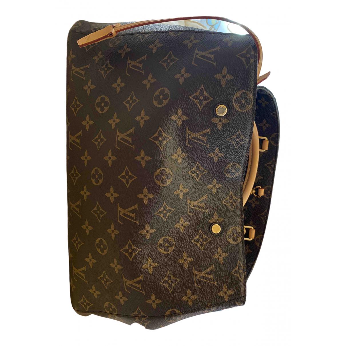 Louis Vuitton - Sac a main Montaigne pour femme en toile - marron
