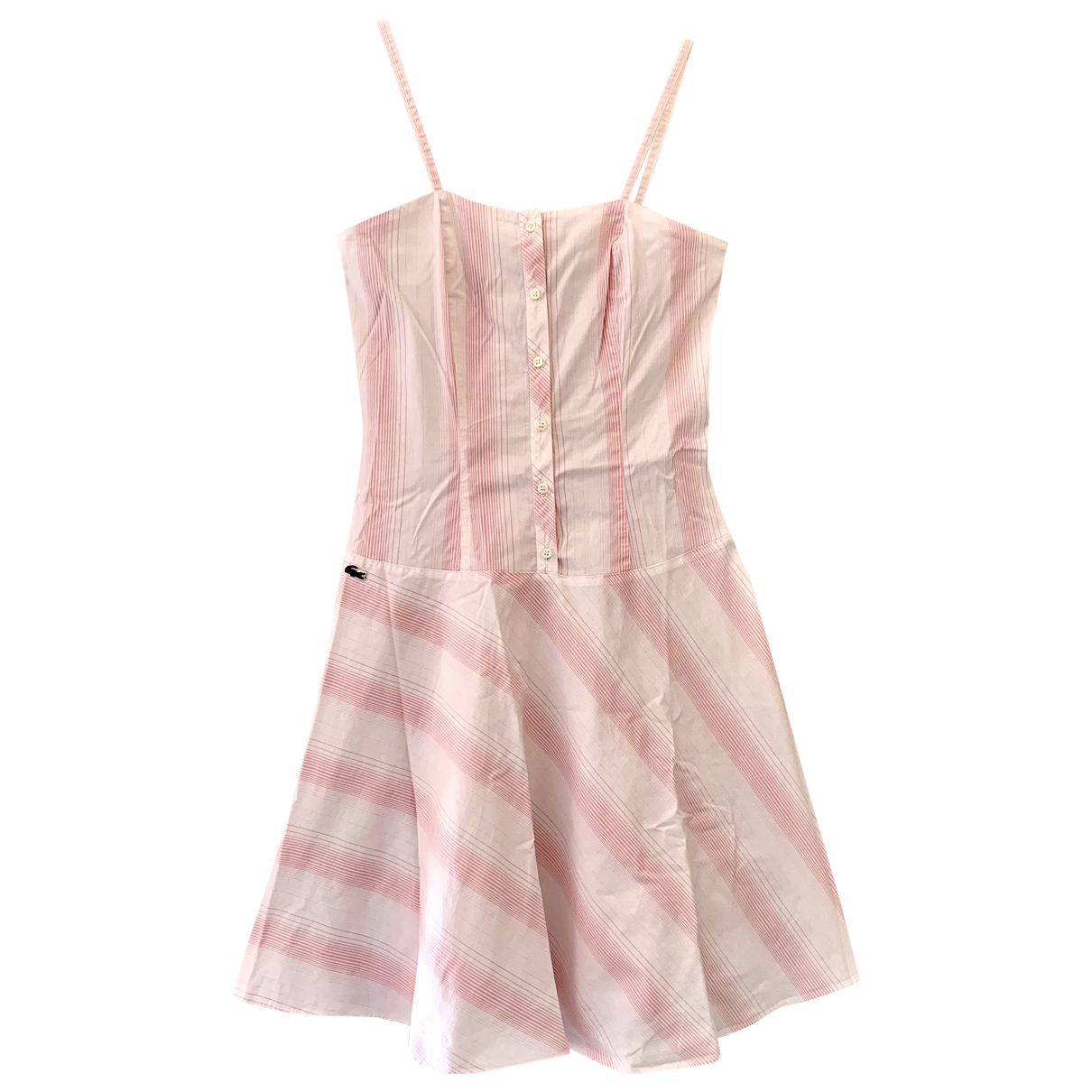 Lacoste N Pink Cotton dress for Women 40 FR