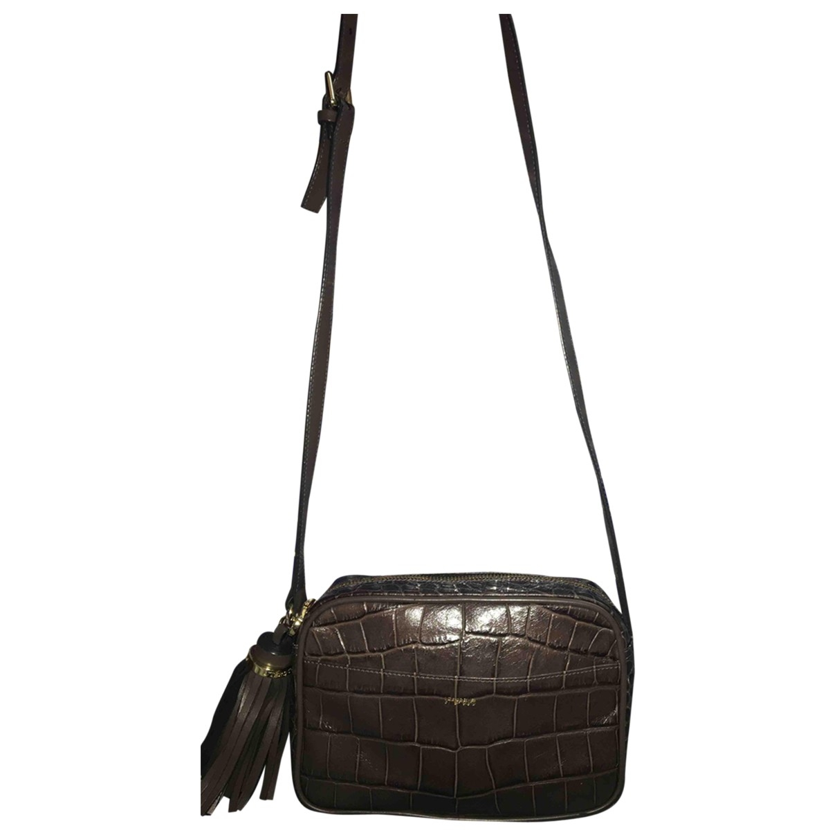 Uterque \N Anthracite Leather handbag for Women \N