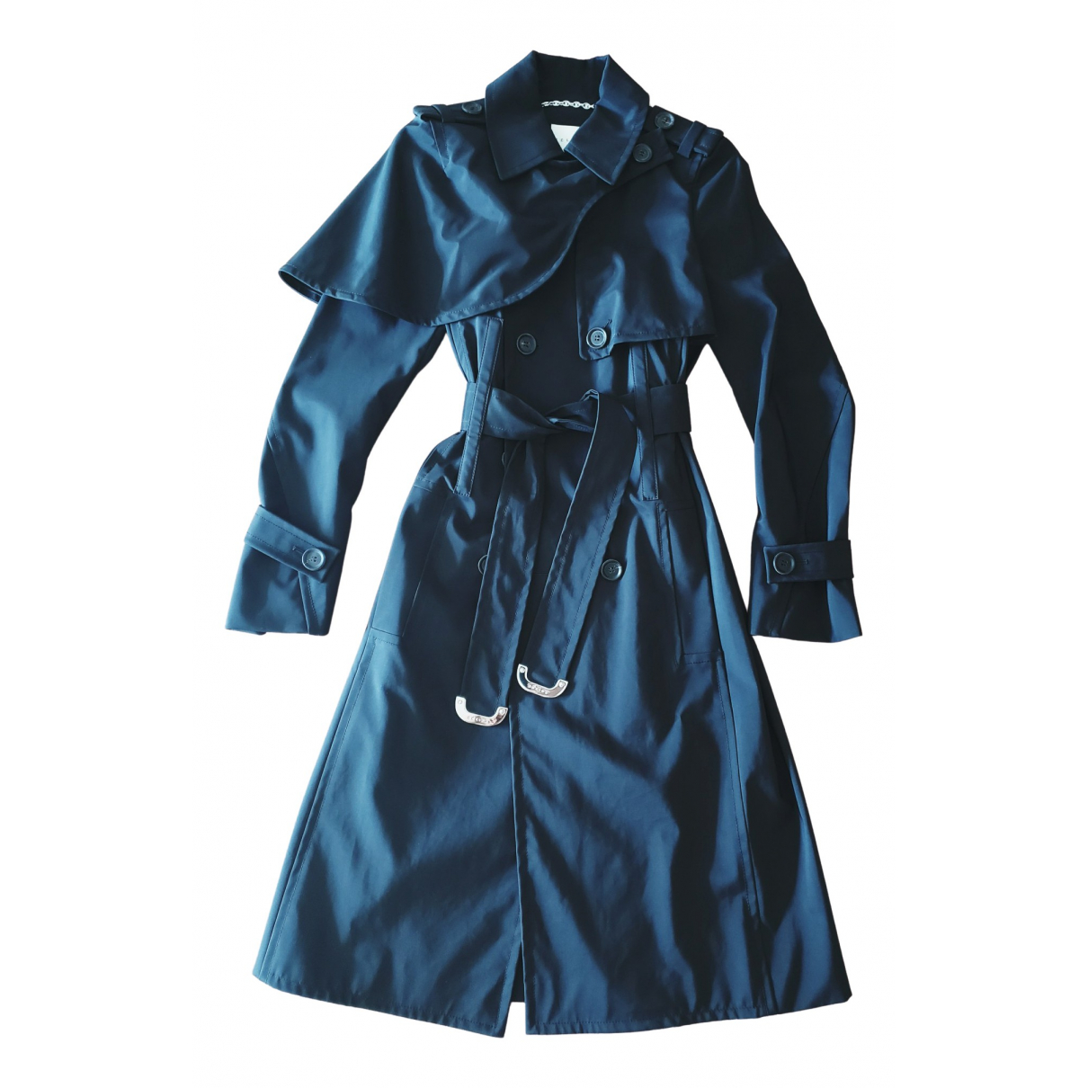 Celine - Manteau   pour femme en coton - noir