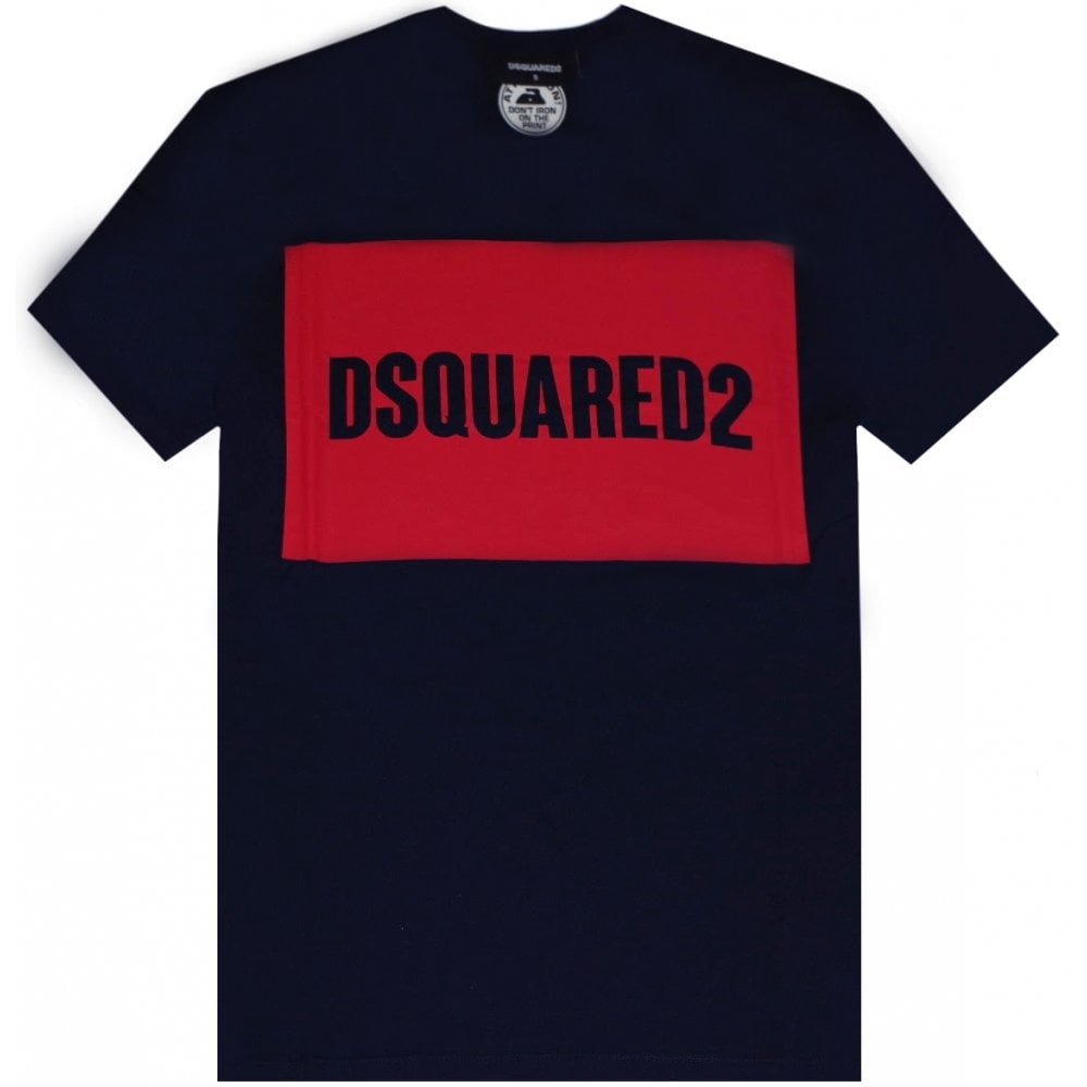 Dsquared2 Box Logo T-shirt Colour: NAVY, Size: EXTRA EXTRA EXTRA LARGE