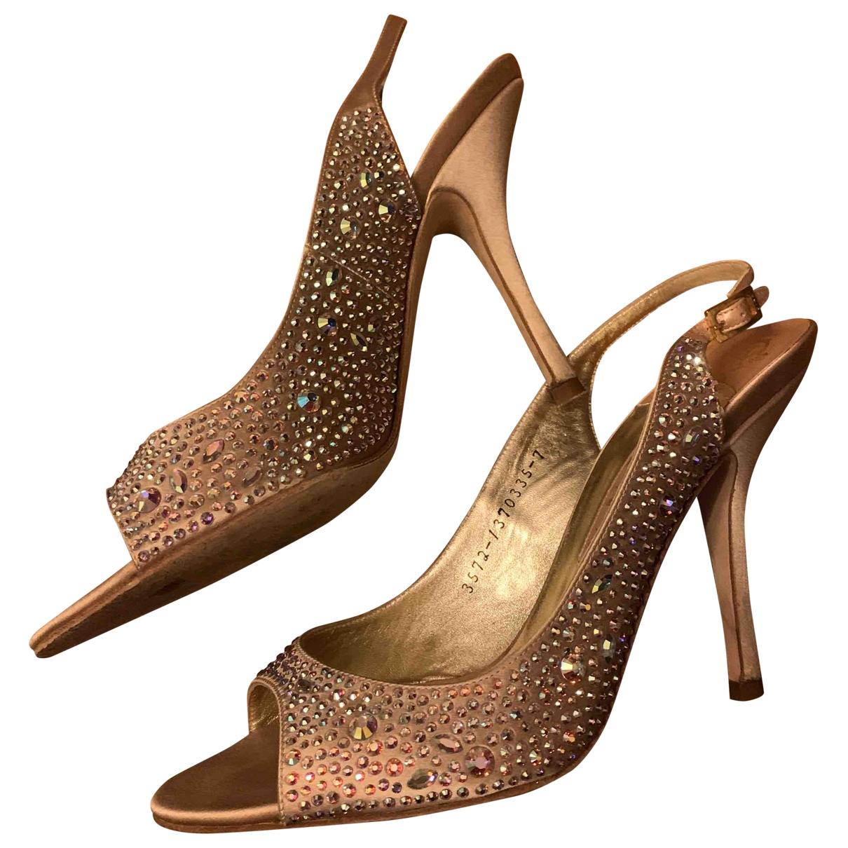 Gina - Escarpins   pour femme en cuir - beige
