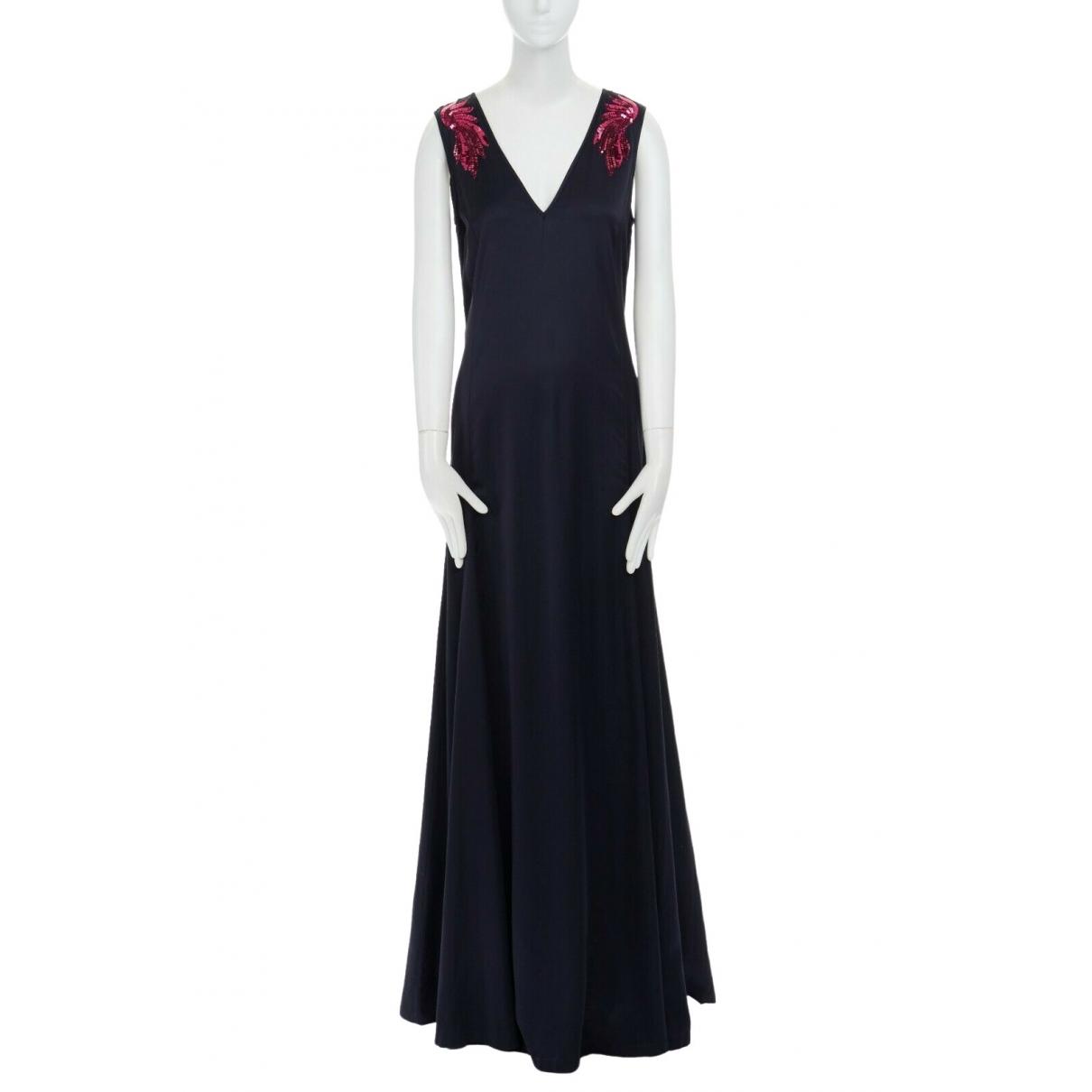 Dries Van Noten \N Kleid in  Marine Viskose