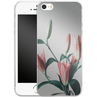 Apple iPhone 5s Silikon Handyhuelle - Blume von SONY