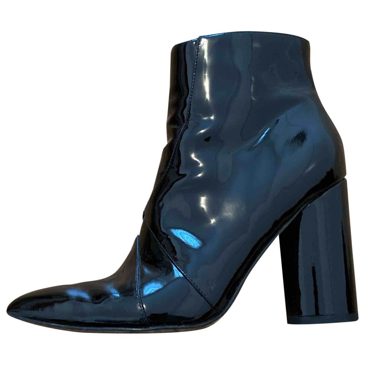 Sigerson Morrison - Boots   pour femme en cuir verni - noir