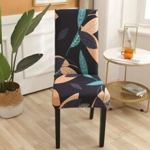 Leaf Print Stretchy Chair Cover