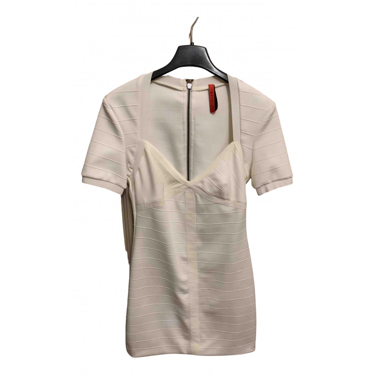 Imperial \N Kleid in  Weiss Baumwolle - Elasthan