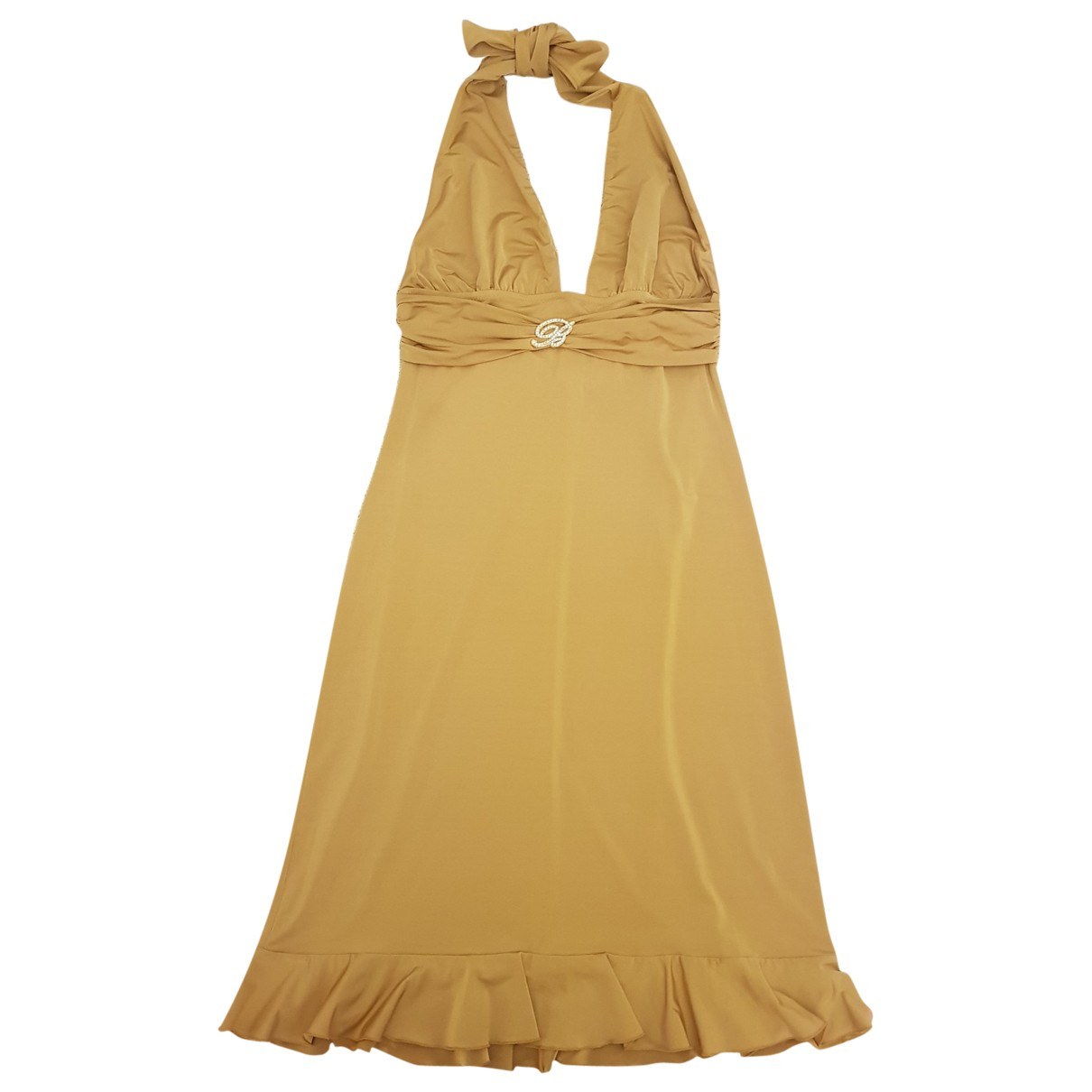Blumarine \N Kleid in  Gold Polyester