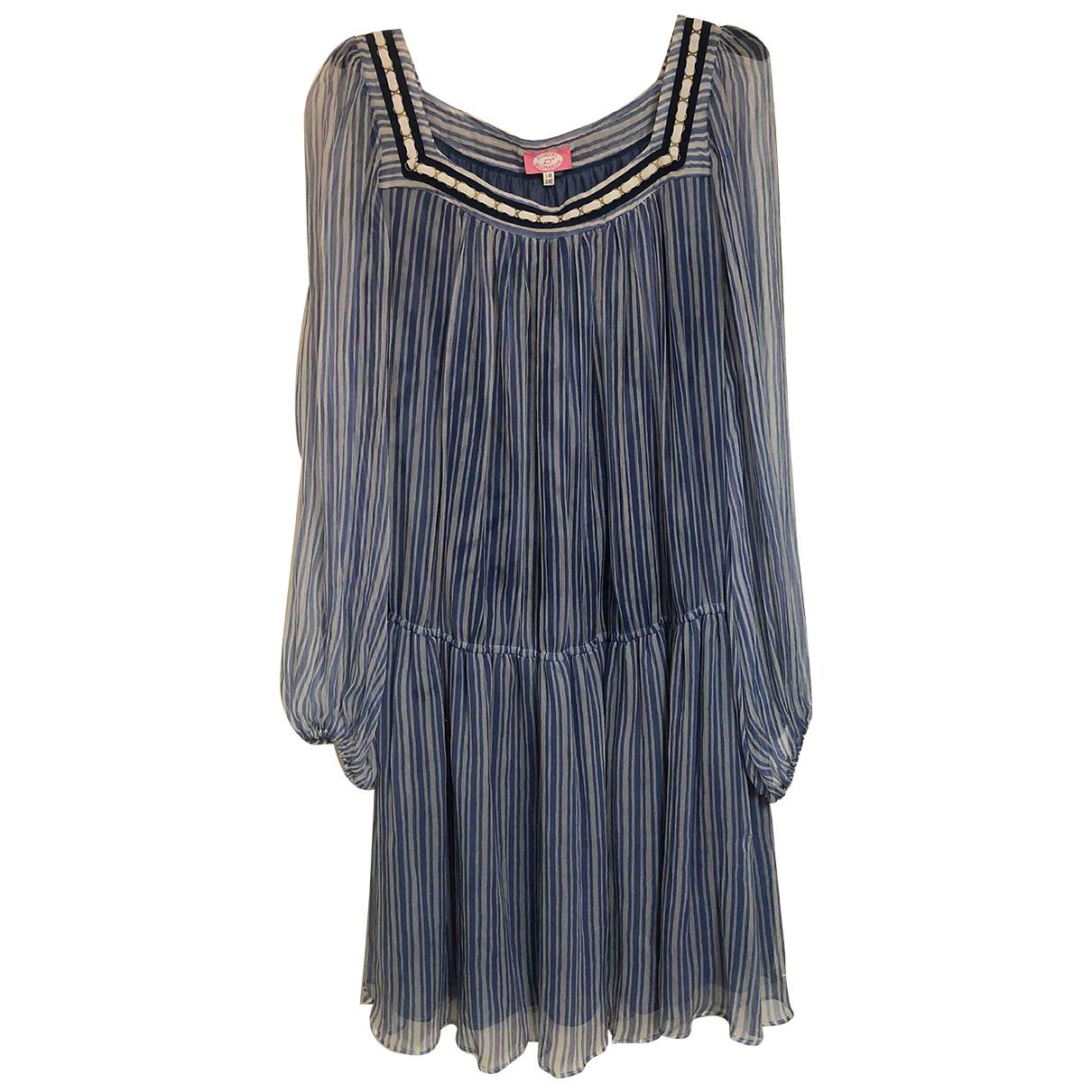Blumarine \N Kleid in  Blau Seide