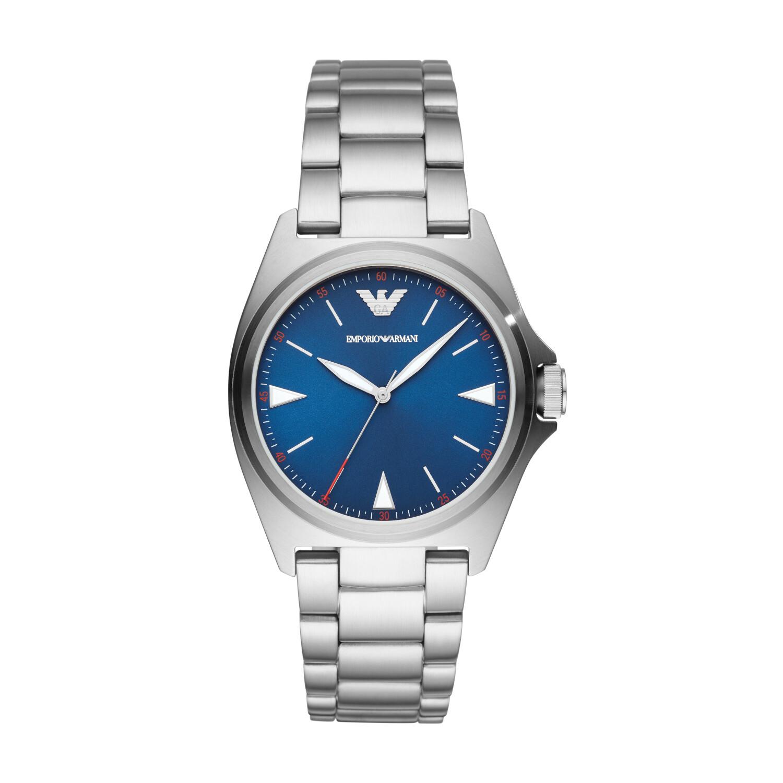 Emporio Armani Mens Nicola AR11307 Silver Stainless-Steel Quartz Dress Watch