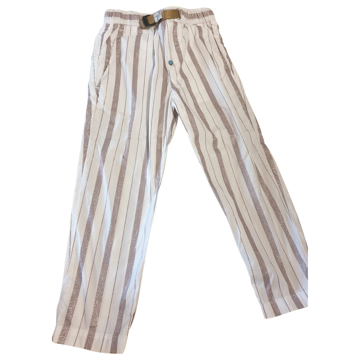 - Pantalon   pour enfant en coton - blanc