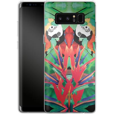 Samsung Galaxy Note 8 Silikon Handyhuelle - Parrot von Amy Sia
