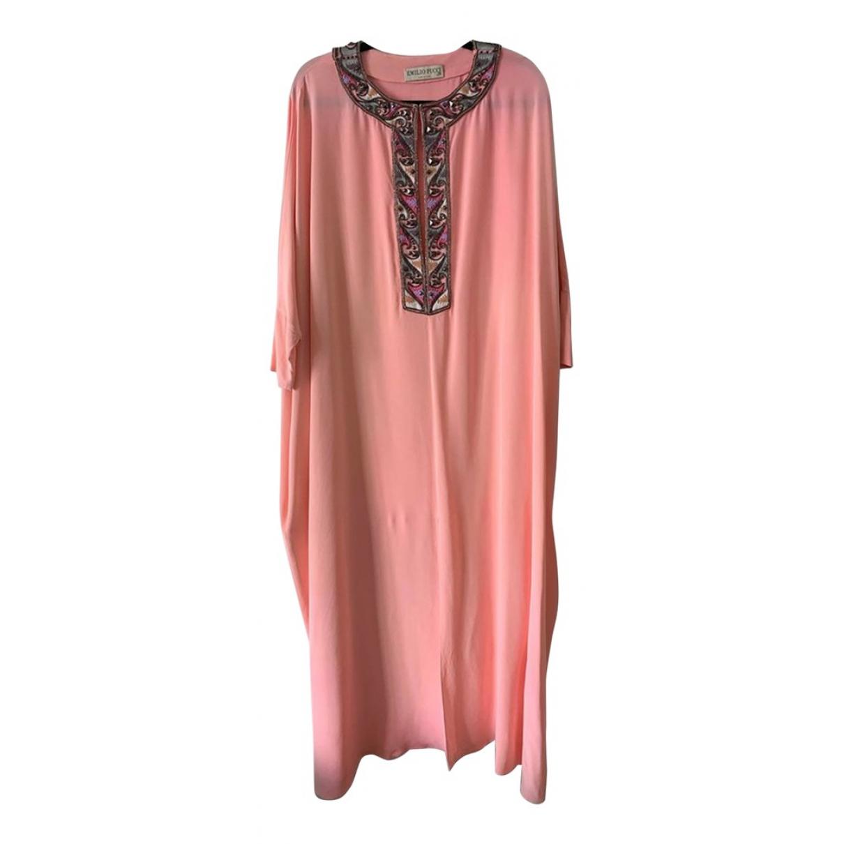 Maxi vestido de Seda Emilio Pucci