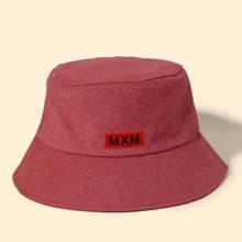 Sombrero cubo de hombres con bordado