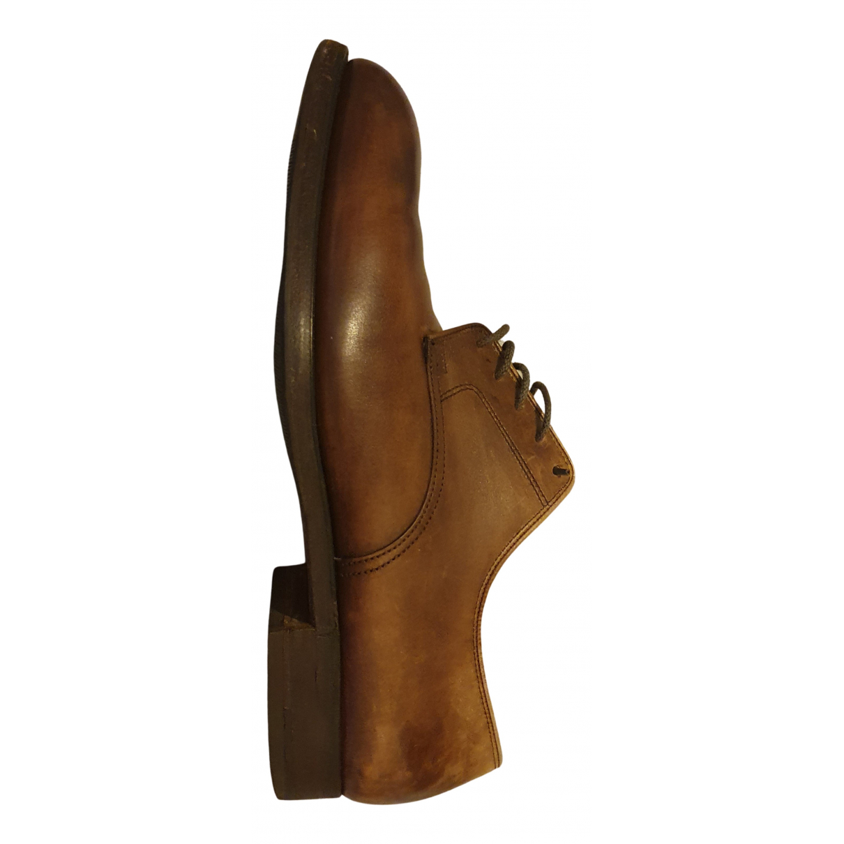 Crockett& Jones N Brown Leather Lace ups for Men 7.5 UK