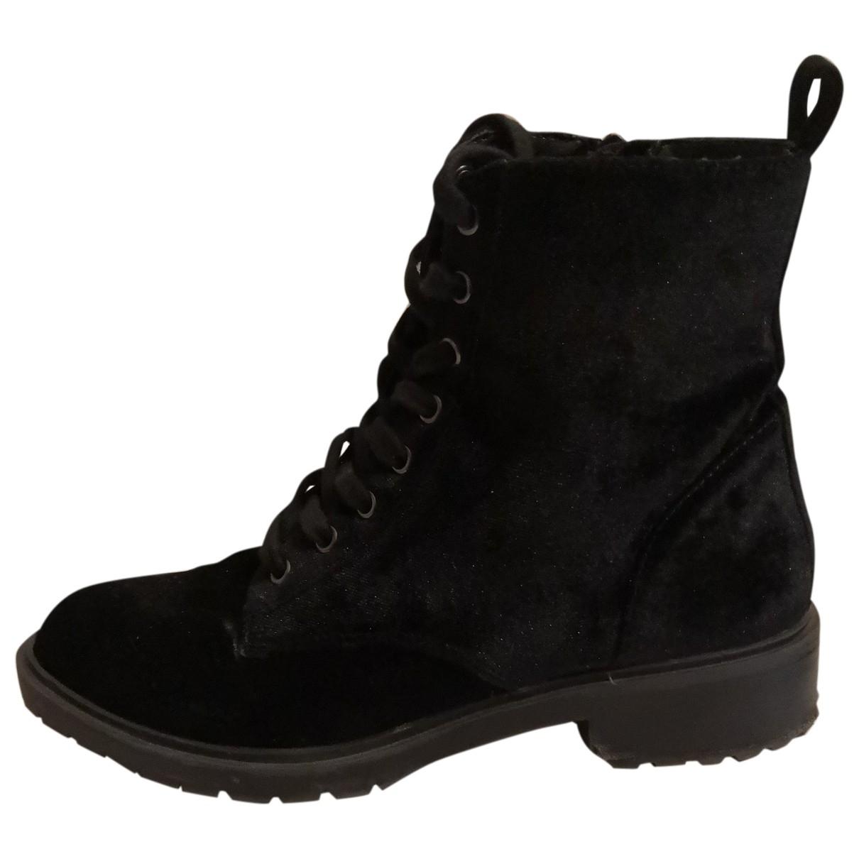 Steve Madden - Boots   pour femme en velours - noir