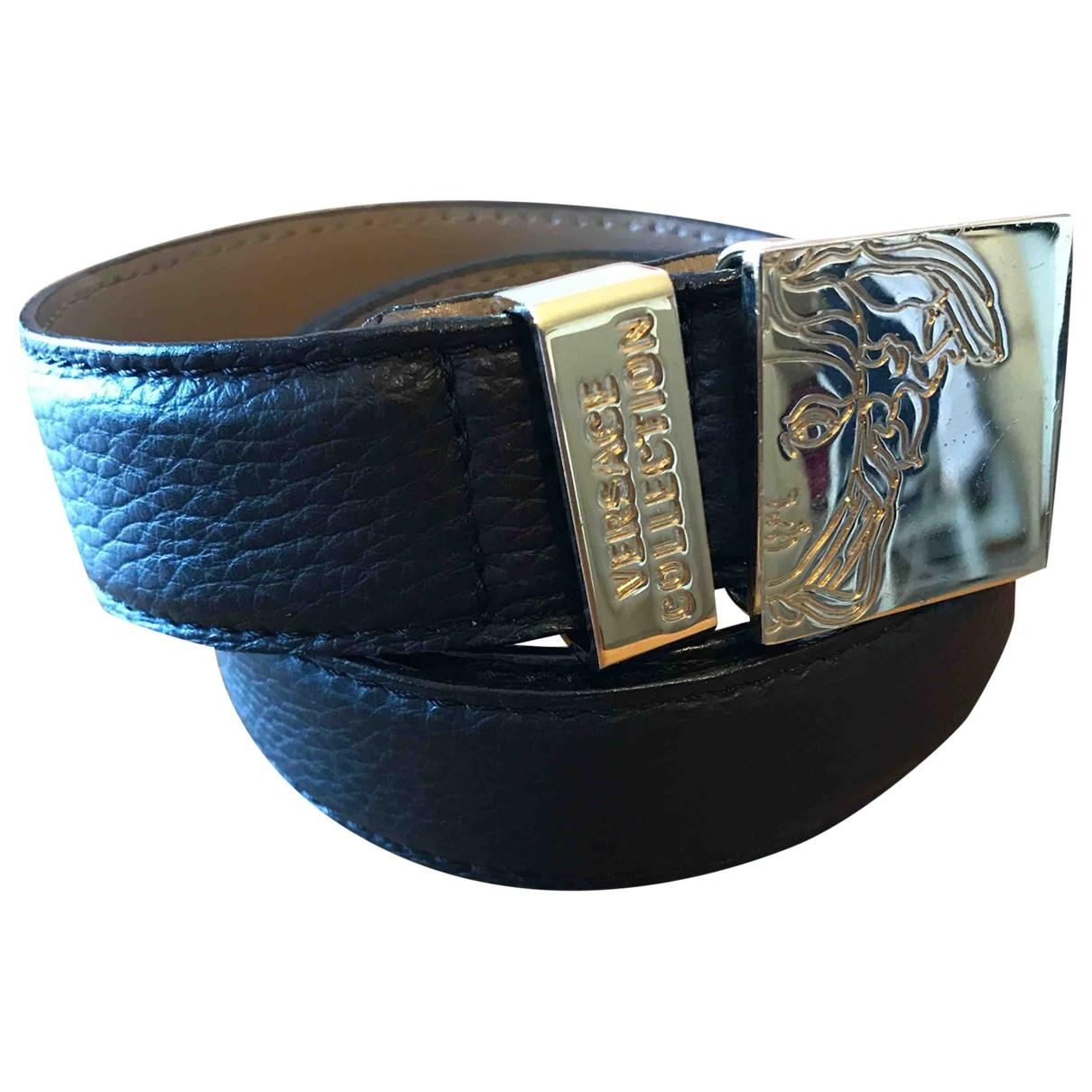 Versace \N Black Leather belt for Women S International