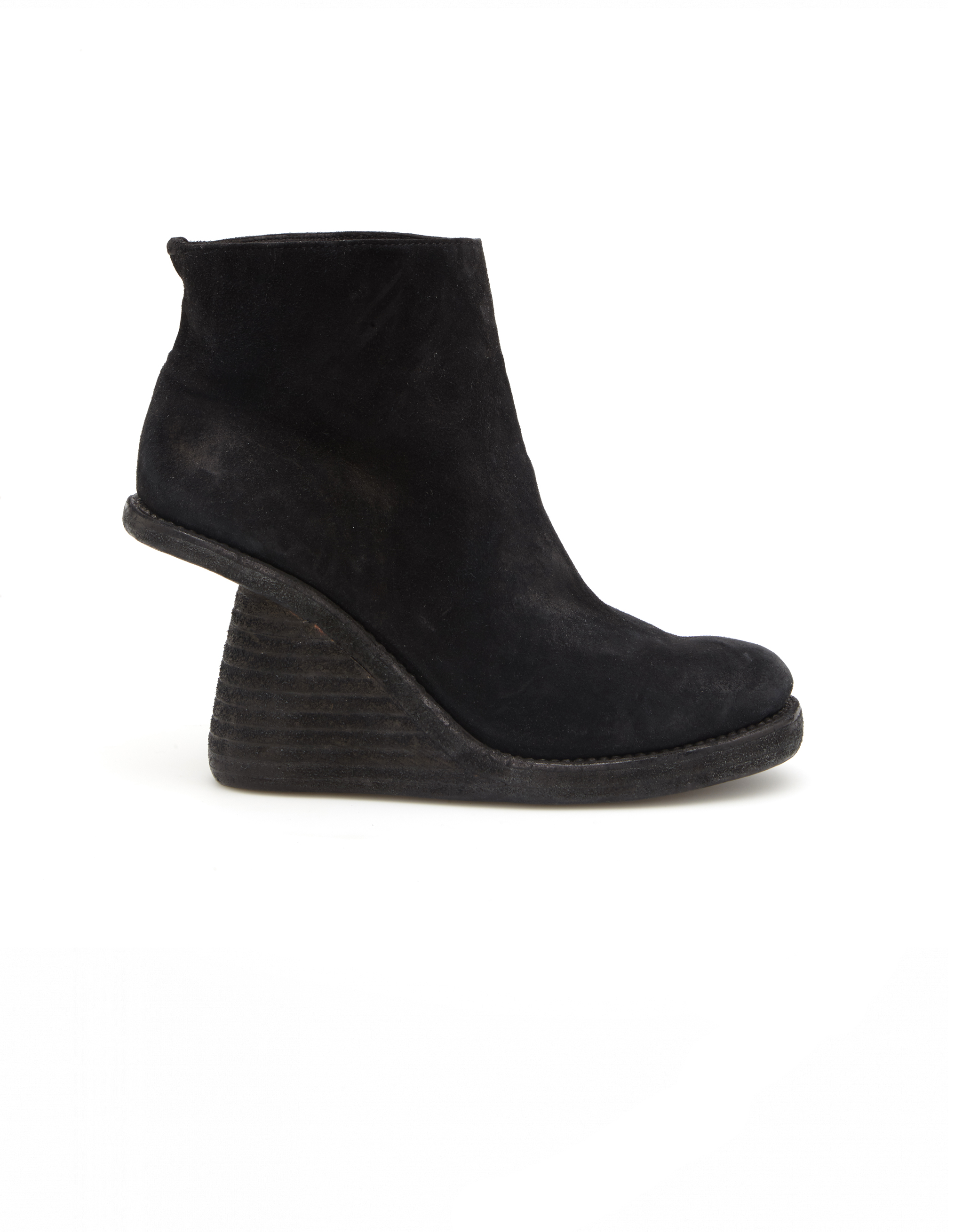 Guidi Wedge Heel Suede Ankle Boots