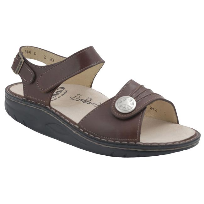 Finn Comfort Sausalito Saddle Leather Soft Footbed 42