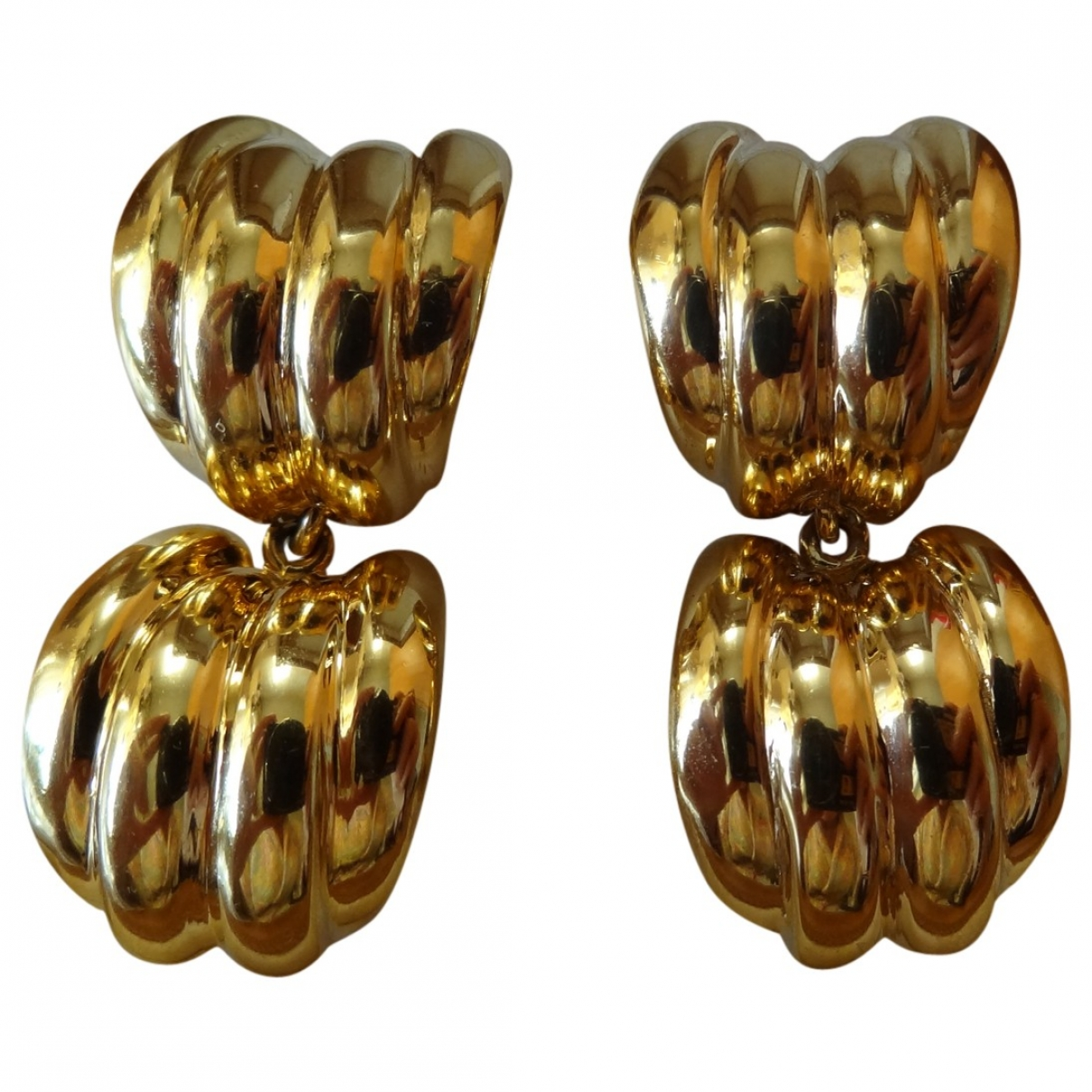 Non Signé / Unsigned \N Gold Gold plated Earrings for Women \N