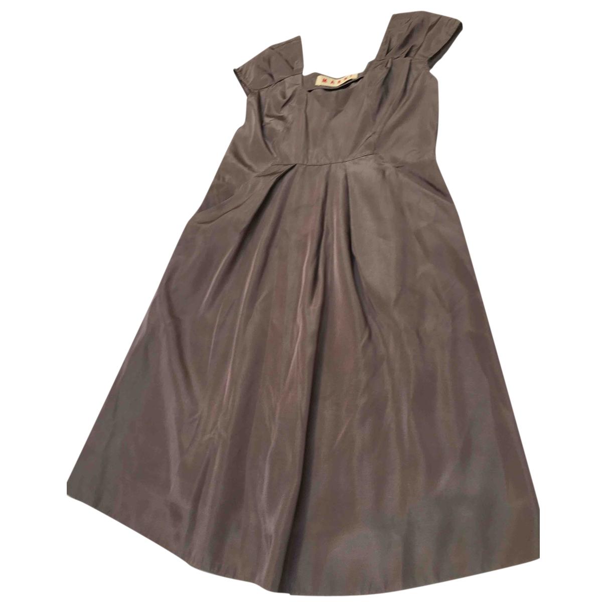 Marni \N Kleid in  Grau Synthetik