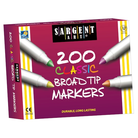 Sargent Art® Best-Buy Classic Washable Broad Tip Markers, 200 Count | Michaels®