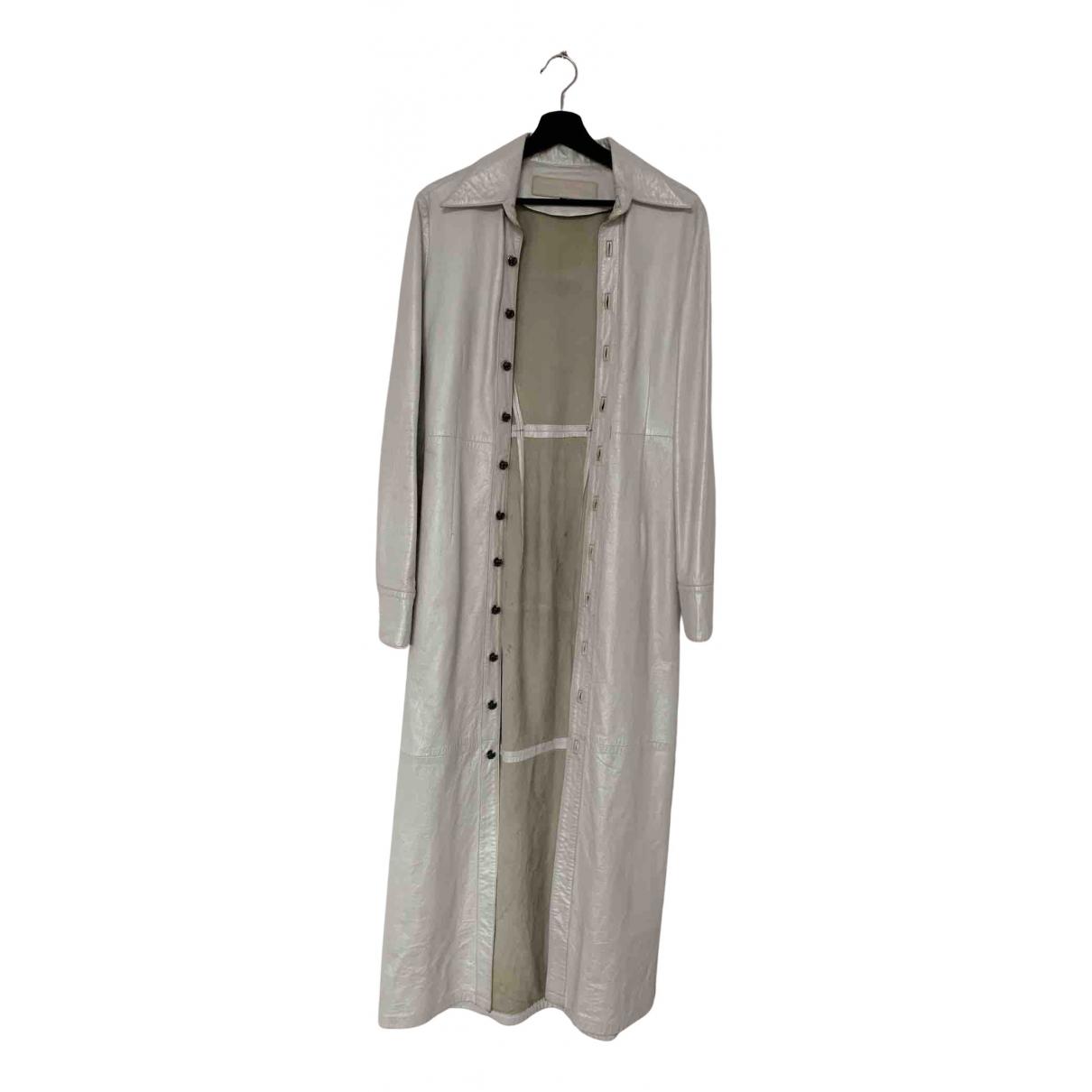 Chrome Hearts - Manteau   pour homme en cuir - blanc