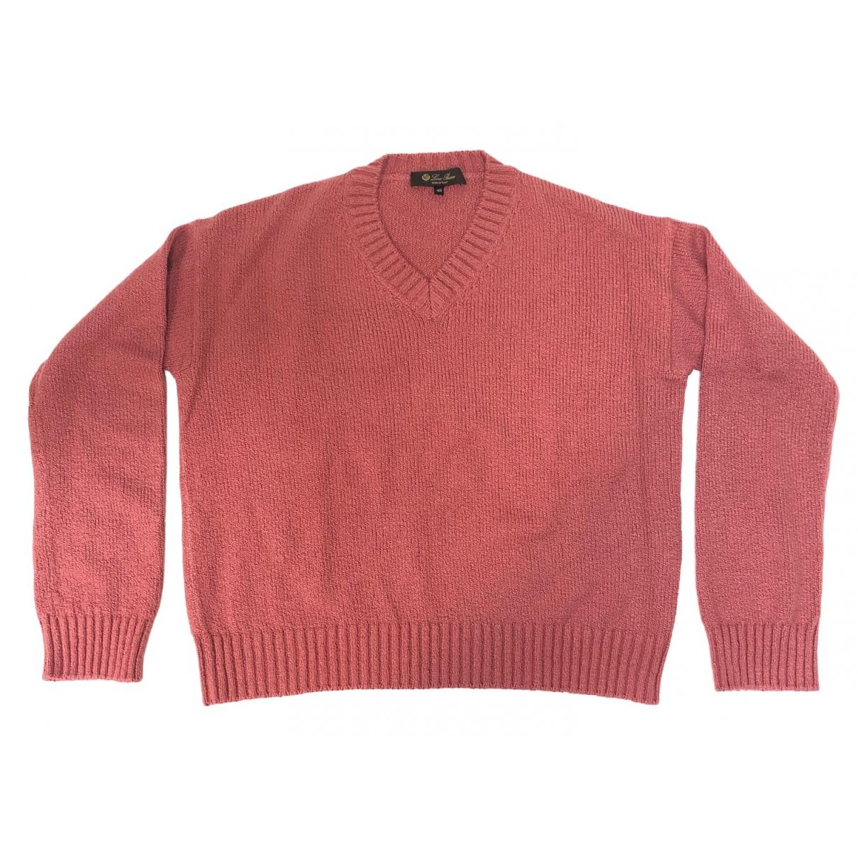 Loro Piana - Pull   pour femme en coton - rose