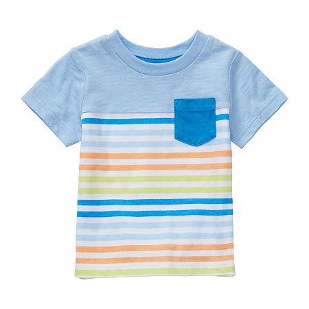 Okie Dokie Baby Boys Short Sleeve T-Shirt, 24 Months , Blue