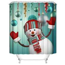 Duschvorhang mit Schneemann Muster