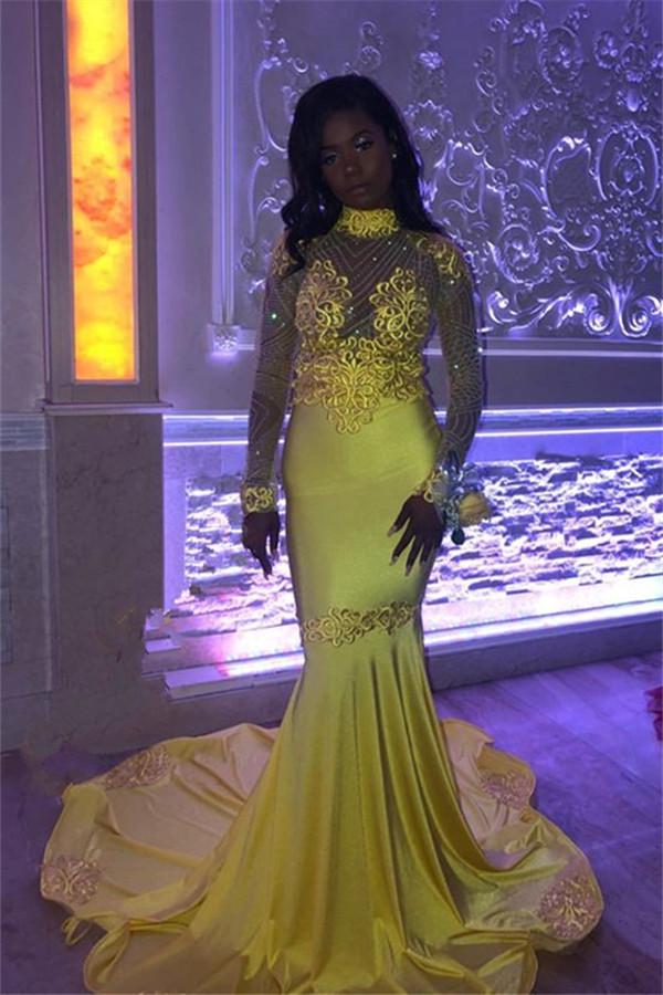 Incroyables col haut perles Appliques robes de bal | Robes de soiree elegantes en tulle transparent ajustees et evasees