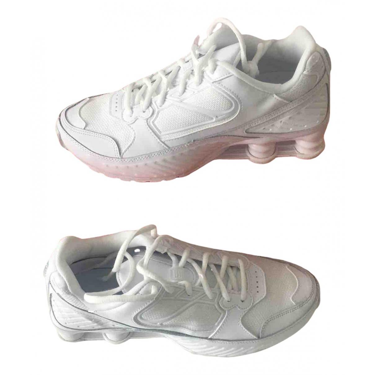 Nike - Baskets Shox pour femme en toile - blanc