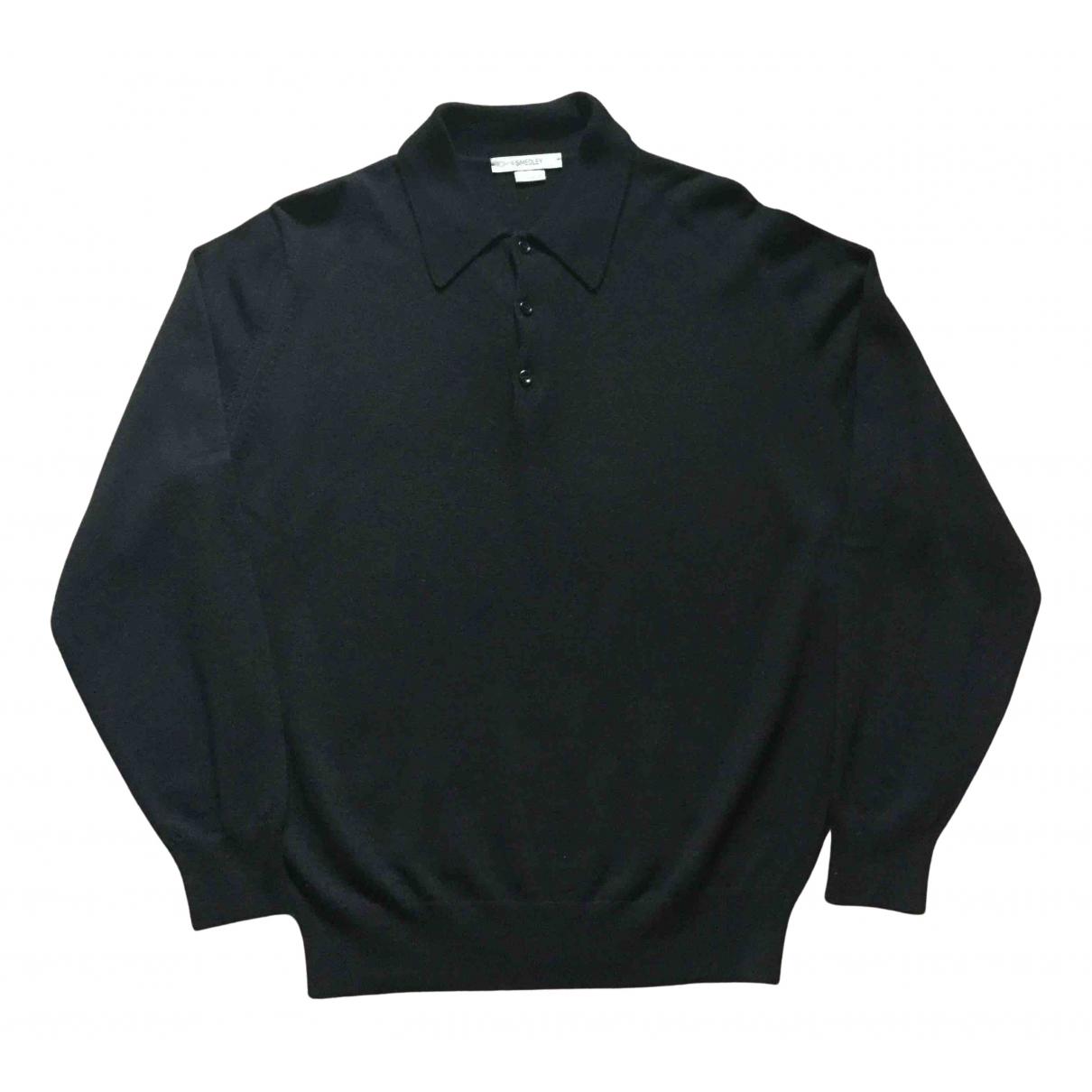 John Smedley \N Pullover.Westen.Sweatshirts  in  Schwarz Wolle