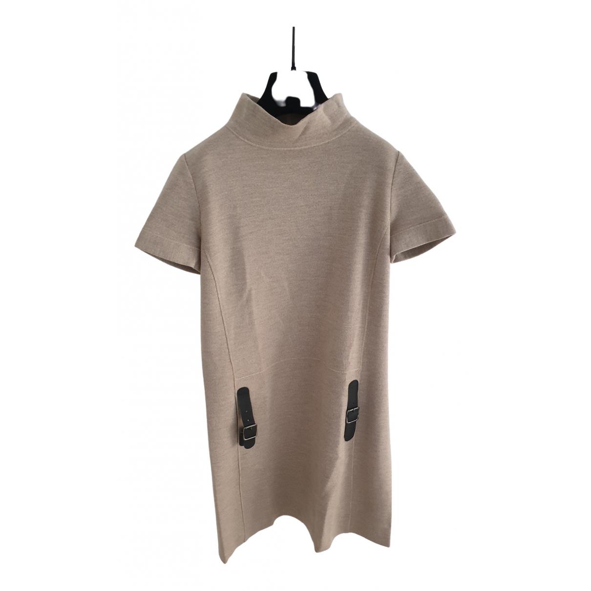 Blumarine \N Kleid in  Beige Wolle