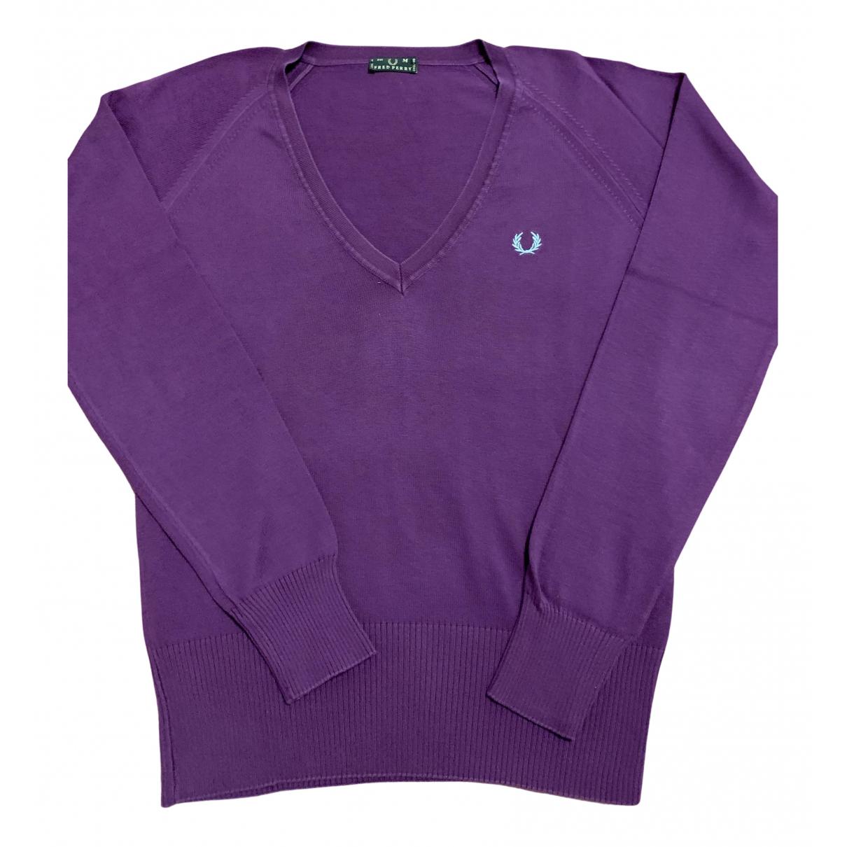 Fred Perry - Pull   pour femme en coton - violet