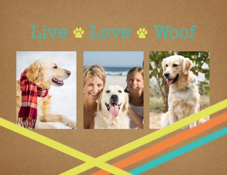 Love Plush Fleece Baby Blanket, 30x40, Gift -Live Love Woof