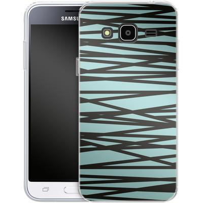 Samsung Galaxy J3 (2016) Silikon Handyhuelle - Rendezvous Stripe von Khristian Howell