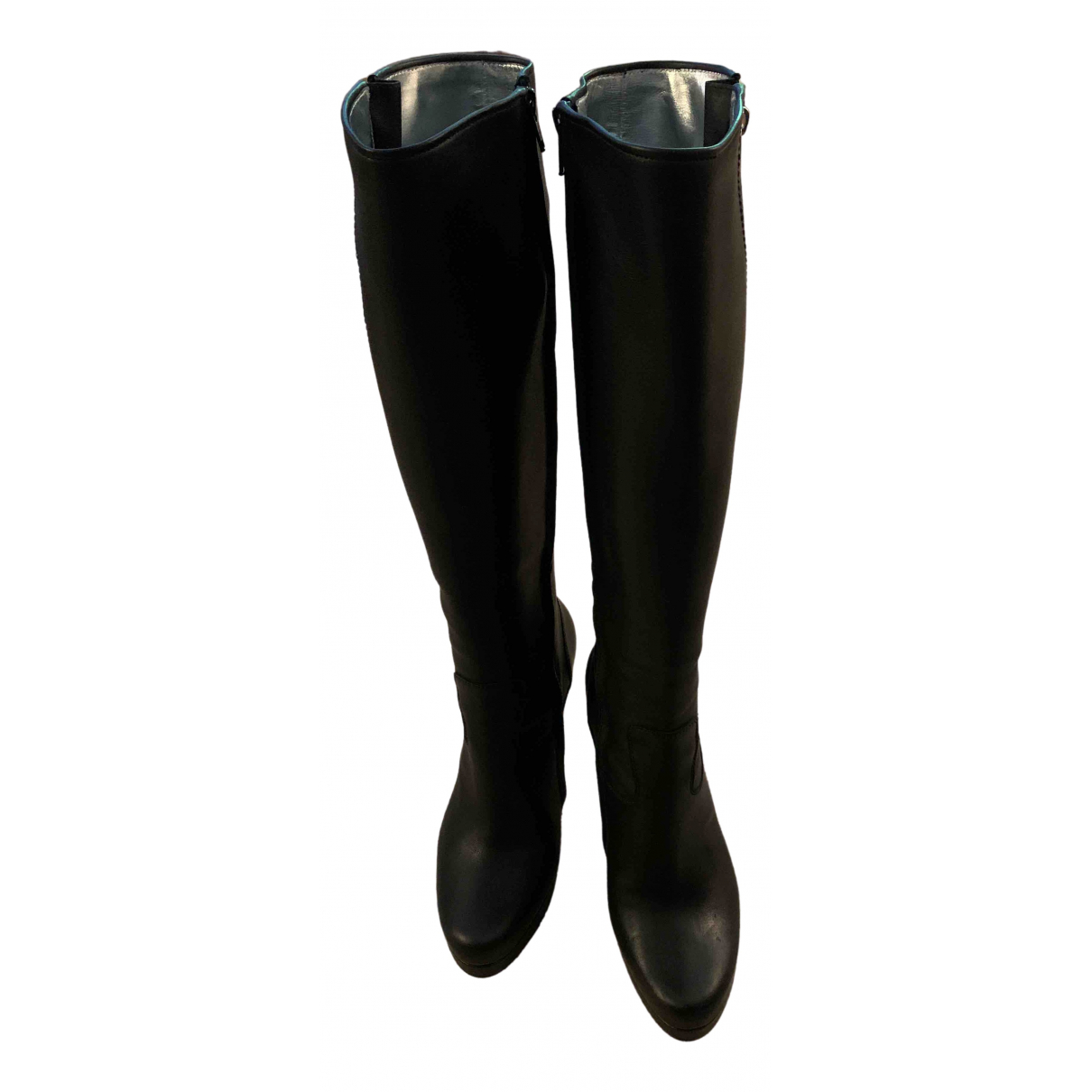 Free Lance \N Black Leather Boots for Women 39 EU