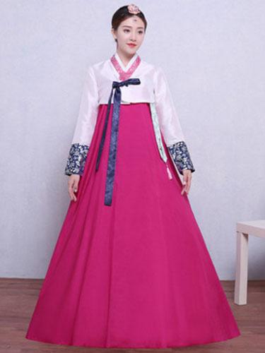 Milanoo Women Korean Costume Hanbok Halloween Asian Costume